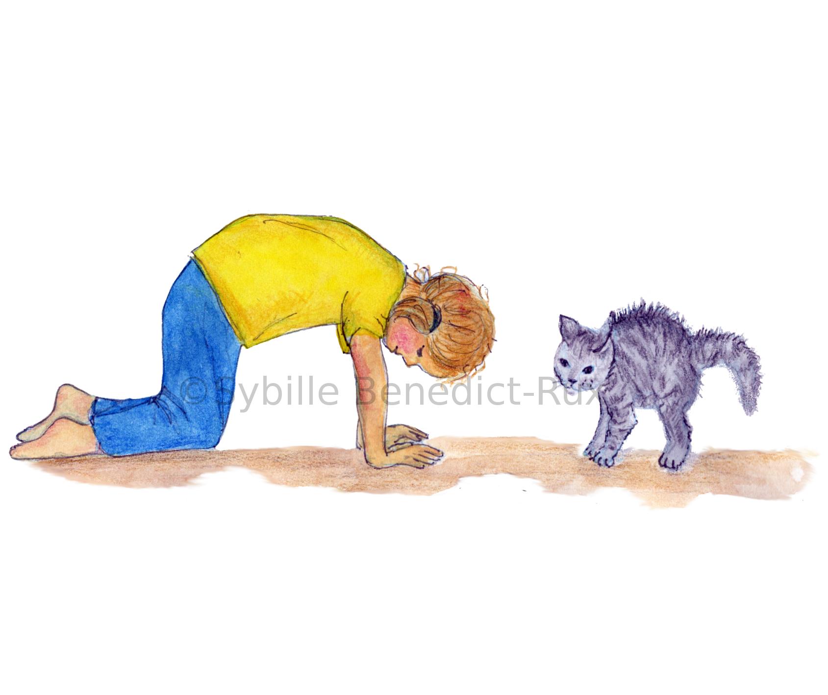 Yogakids – die Katze