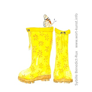 Illustration Gummistiefel