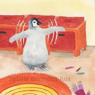 Pinguin im Kinderzimmer
