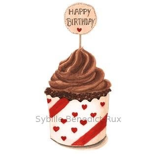 Ein Cupcake zum Geburtstag