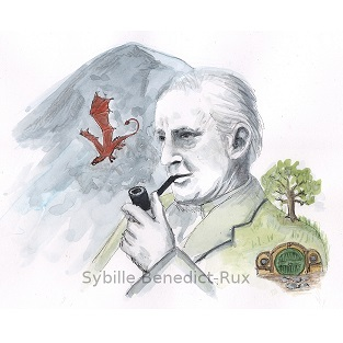 Illustration Tolkien, Hobbit, Smaug