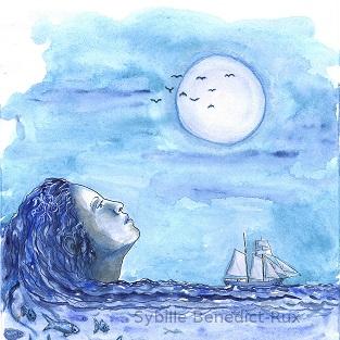 Illustration Sehnsucht nach Meer