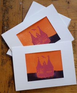 Sonderedition Linoldruckkarte Holstentor