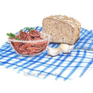 Foodillustration für Buchcover